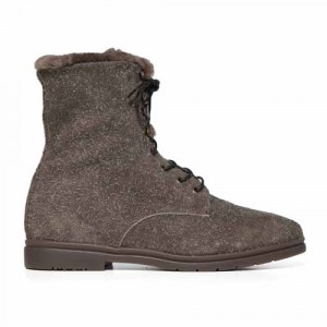 Andrea Ventura Lace-up Boot Shearling Taupe