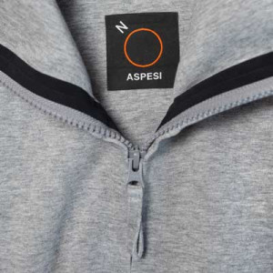 Aspesi Zip-up Hoodie Light-Grey