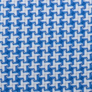 Barba Napoli Shirt Pied de Poule Blue