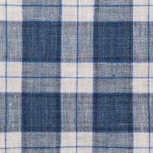 Barba Napoli Blue Check Linen Shirt
