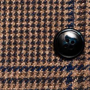 Barba Napoli Jacket Prince de Galles Brown-Blue