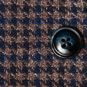 Barba Napoli Houndstooth Jacket Brown-Blue