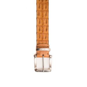Andrea d'Amico Croco Belt Cognac