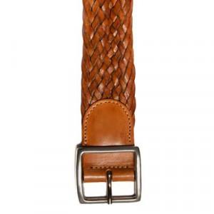 d'Amico Braided Belt Stonewashed Brown
