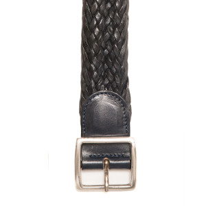 Andrea d'Amico Braided Belt Blue