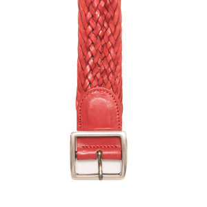 d'Amico Braided Belt Stonewashed Red