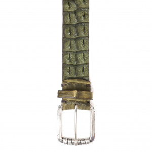 Andrea d'Amico Croco Belt Green