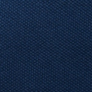 Drumohr Polo Garment Dyed Piquet Blue