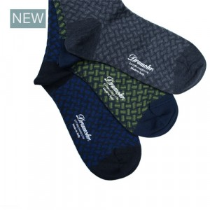 Drumohr Socks Grey Biscottino