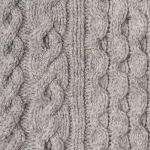 Drumohr Turtle Neck Aran Geelong Grey
