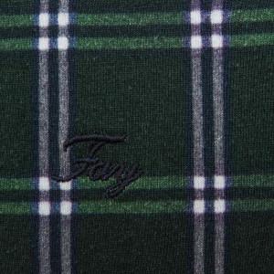 Fay Green T-Shirt Check