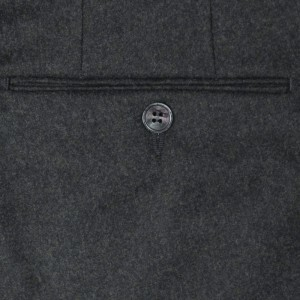 Germano Flannel Trousers Dark Green