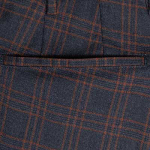 Germano Checkered Trousers Blue