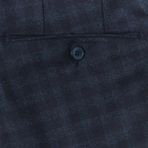 Germano Flannel Trousers Blue Check