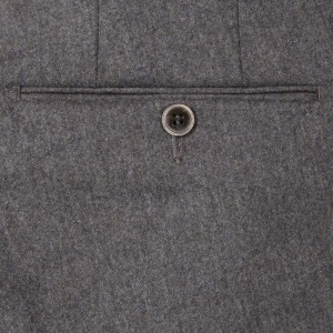 Germano Flannel Trousers Grey-Brown