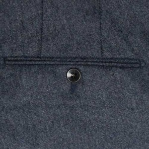 Germano Trouser Flannel Blue-Grey Melange