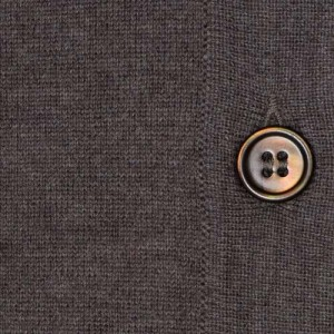 Gran Sasso Cardigan Tasmanian Wool Brown