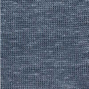Gran Sasso Linen V-neck Polo Grey-Blue
