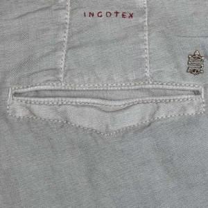 Incotex Slacks Linen Cotton Taupe
