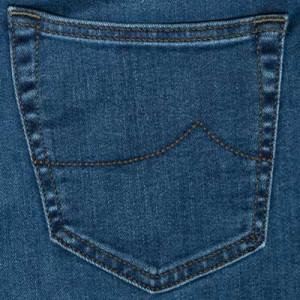 Jacob Cohen Green Stitched Blue Denim Red