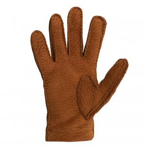 Mario Portolano Cognac Peccari Gloves