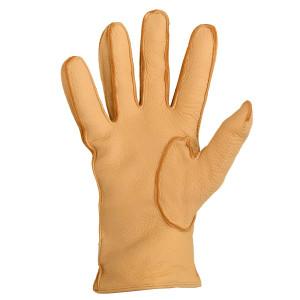 Mario Portolano Beige Deerskin Gloves