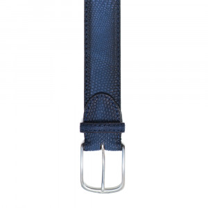 Paolo Vitale Belt Lizard Blue