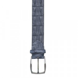 Paolo Vitale Horn Back Belt Grey-Blue