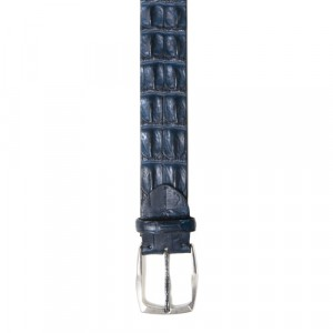 Paolo Vitale Croco Horn Back Belt Blue