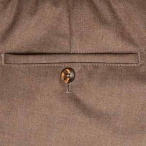 Marco Pescarolo Woolen Trousers Brown