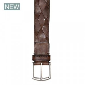 Paolo Vitale Braided Belt Brown