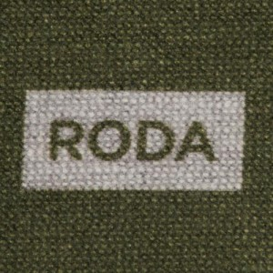 Roda Scarf Double Face Silk Green