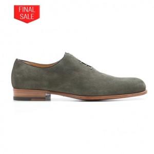 Testoni Wholecut Suede Shoes Olive